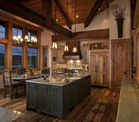 Cucina rustica per la casa in montagna da Pinterest