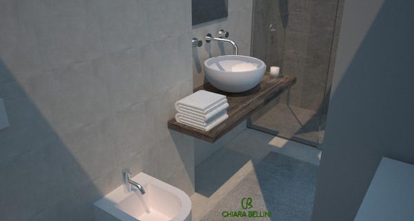 Ampliamento bagno: vista interna