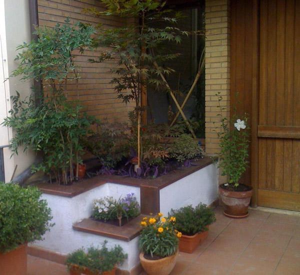 Area dell'ampliamento per realizzare un nuovo bagno: fioriera