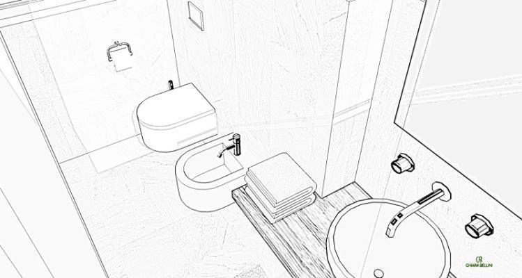 Ampliare un bagno sfruttando una fioriera esterna: schema d'impianto