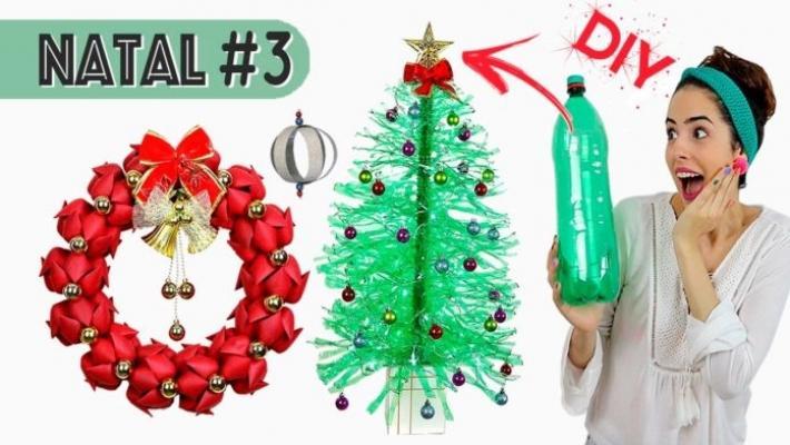 Progetto albero di natale in plastica di bottiglia di Stephania.com.br