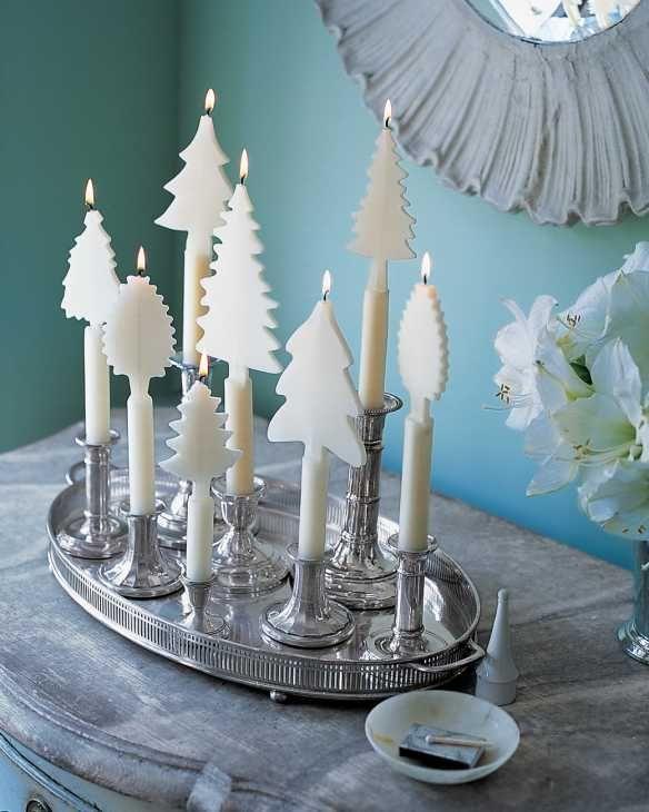 Centrotavola con candele di Martha Stewart