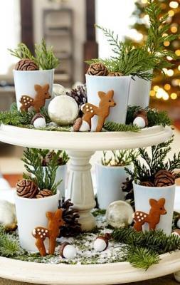 Centrotavola invernale per le feste di midwestliving.com