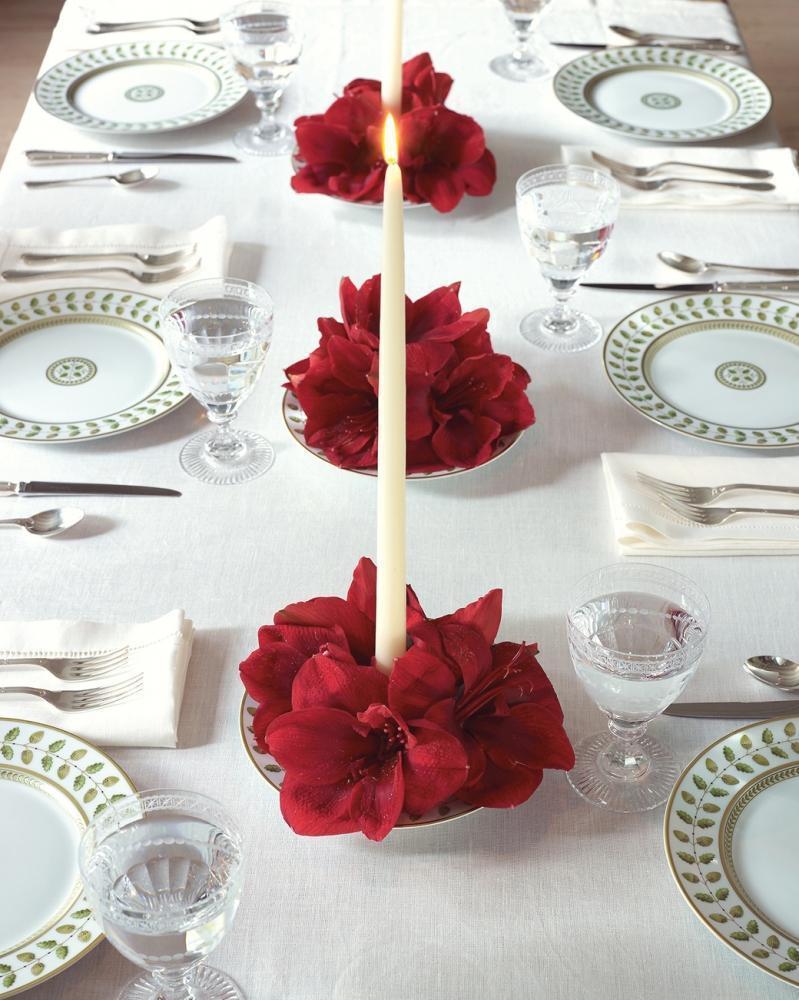 Centrotavola fioriti eleganti di Martha Stewart