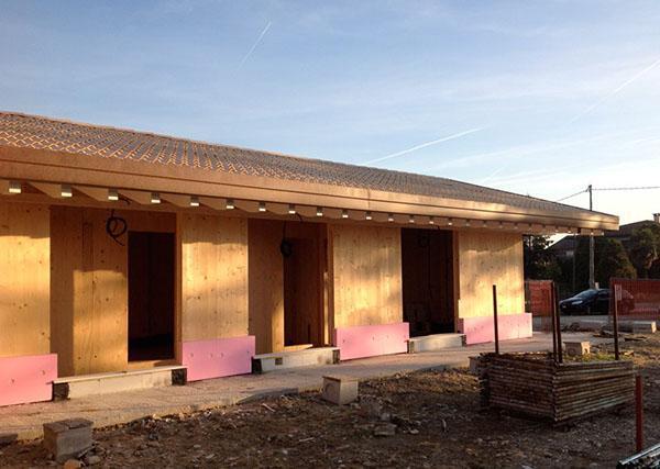 Casa costruita con sistema x-lamitalia
