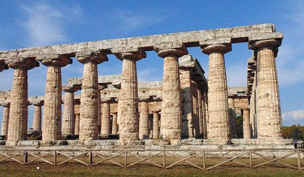 Costruzione antisismica: struttura in pietra Templi di paestum