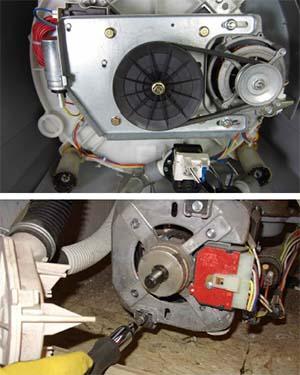 Usare il motore della lavatrice