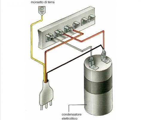 Motore lavatrice: alta velocità collegamento a sei morsetti