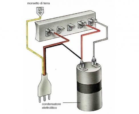 Motore lavatrice: collegamento a cinque morsetti alta velocità