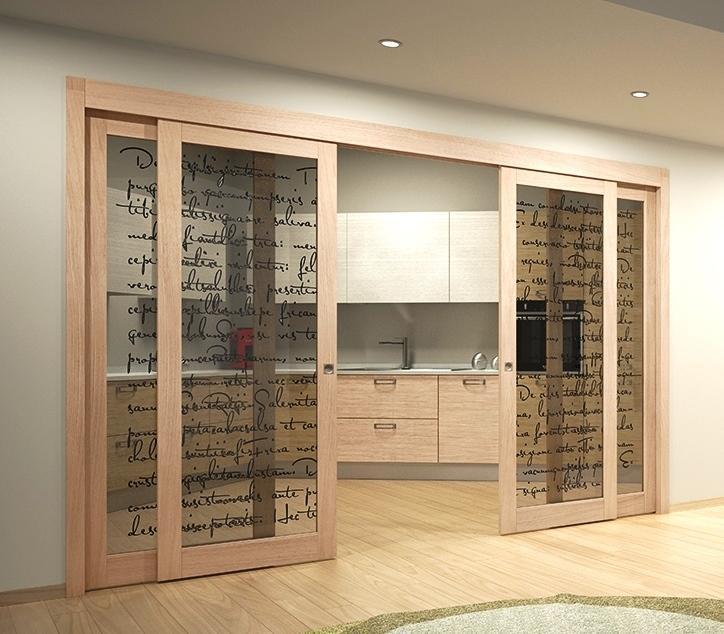 Foto cucina e soggiorno divisi da porte scorrevoli in vetro - Foto porte scorrevoli ...