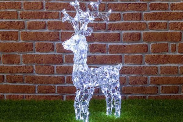 Decorazione giardino Natale renna luminosa LuminaPark