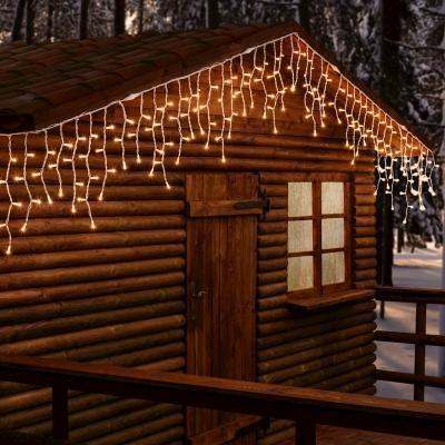 Decorazione giardino Natale luci stalagtiti di LuminaPark