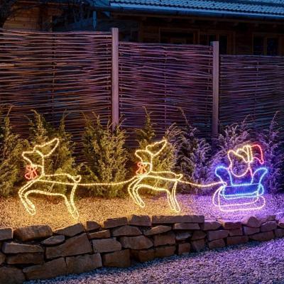 Decorazione giardino Natale renne di LuminaPark