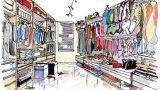 Soluzione progettuale per una stanza armadio
