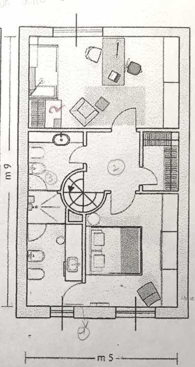 Ristrutturazione appartamento - pianta stato di fatto primo piano