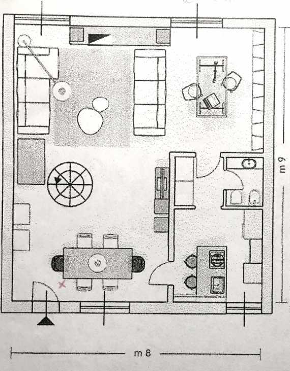 Ristrutturazione appartamento - pianta stato di fatto piano terra