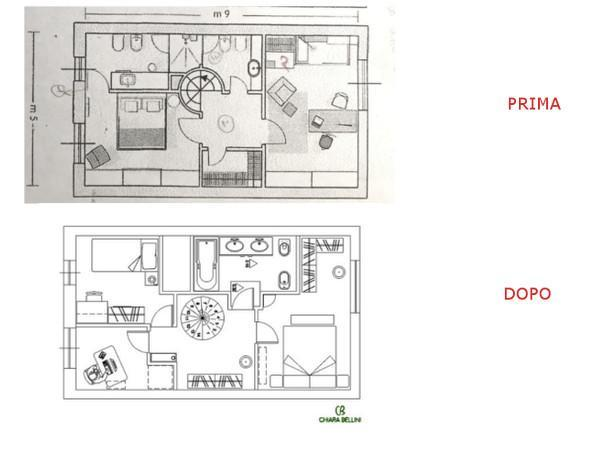 Ristrutturazione appartamento-piano primo: prima e dopo
