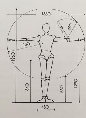 Ridistribuire gli spazi secondo le misure antropometriche