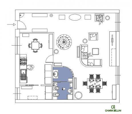 Ristrutturazione di un appartamento - come progettare un bagno nel living