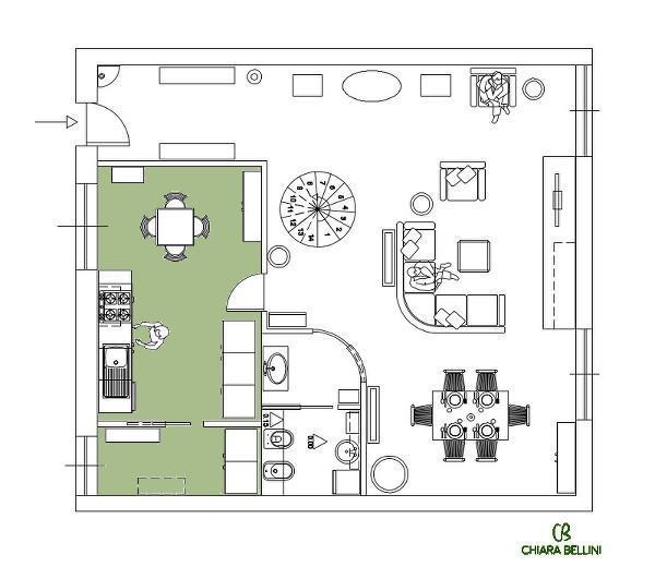 Ristrutturazione di un appartamento - la cucina diviene abitabile
