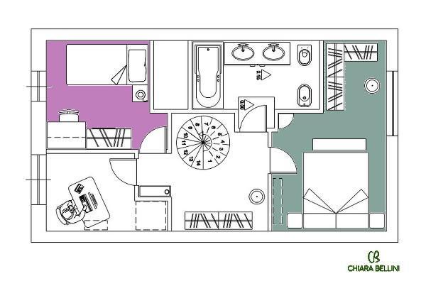 Ristrutturazione di un appartamento - dettaglio camere da letto