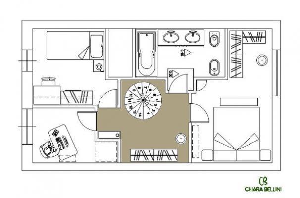 Ristrutturazione di un appartamento - disimpegno zona notte