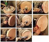 Piatto in legno al tornio: sgrossatura e modellatura