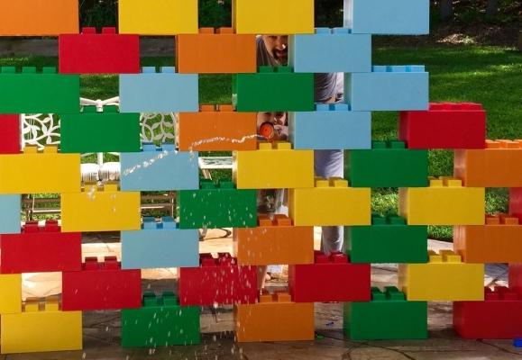 Parete divisoria EverBlock® colorata by Ever Block