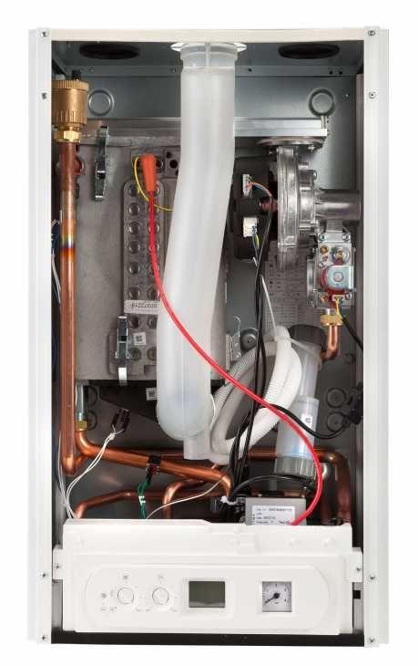 Schema sezione interna della caldaia a condensazione
