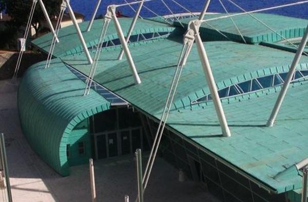 Il rame nella copertura dei tetti - Centro Acquatico di Kantrida, Croazia. Studio Zoppini Associati