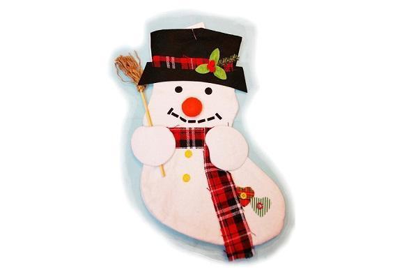 Addobbi per l'Epifania calza con pupazzo di neve da JollyToysParty