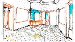 Valorizzare il pavimento del salone con una greca decorativa