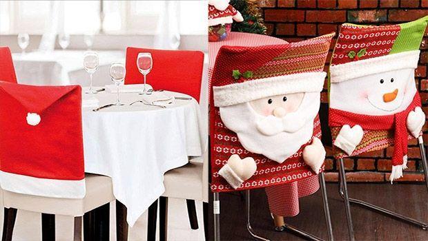 Coprisedie per Natale, tante idee per creare decorazioni fai da te