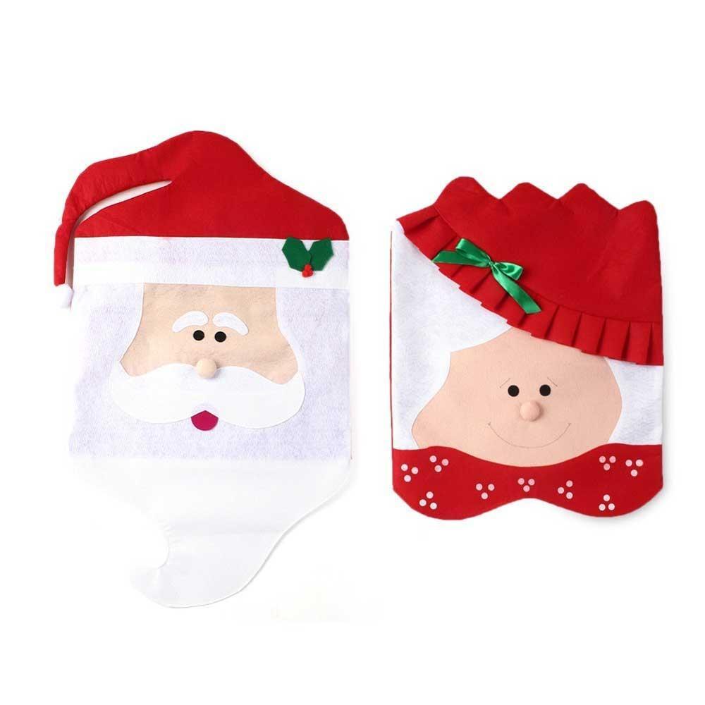 Coprisedie a tema natalizio di Feichen, venduto su Amazon