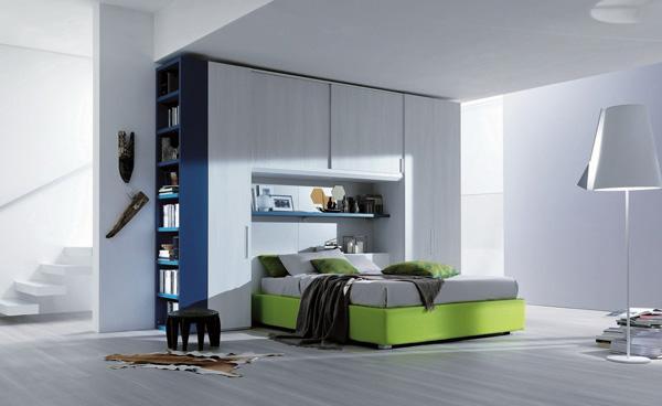 Più spazio in camera con il letto matrimoniale a ponte