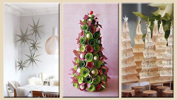 Allestire a festa la propria casa con le decorazioni natalizie in carta