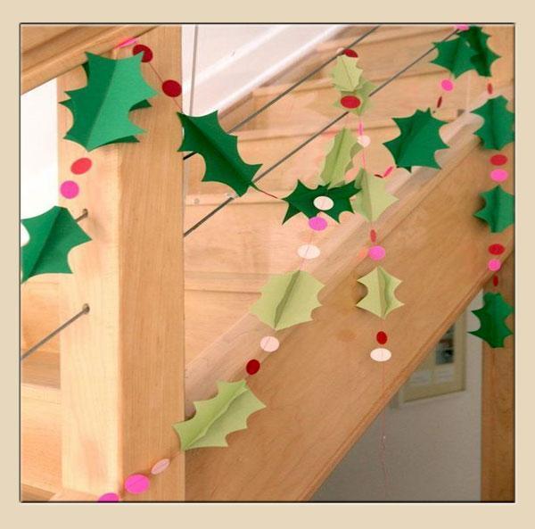 Addobbi natalizi per le scale, by loveitsomuch.com