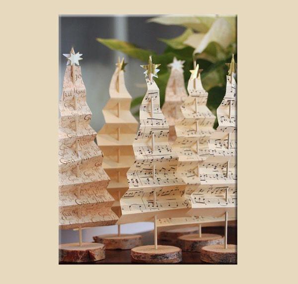 Decorazioni di carta Alberelli natalizi di carta, by lyckoslanten.blogspot.it