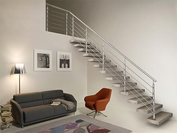 Il sottoscala delle scale a sbalzo di Fontanot