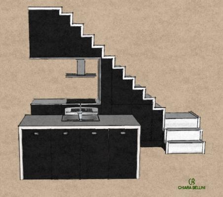 Soluzioni per il sottoscala: sfruttare lo spazio come cucina