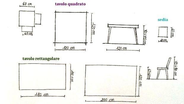 Dimensioni Tavolo Quadrato Per 4 Persone.Progettare Casa Secondo Le Misure Antropometriche