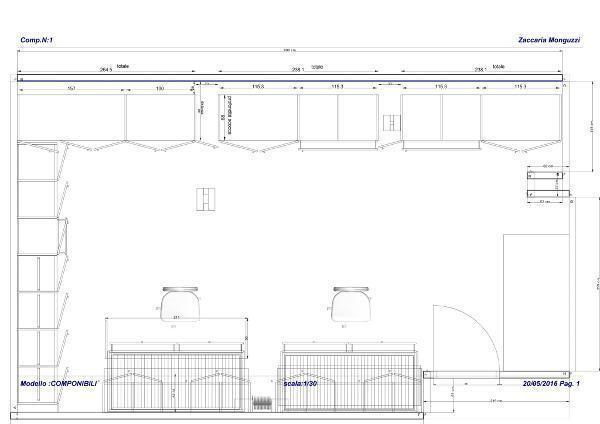 Suddividere la mansarda con gli armadi su misura Monguzzi - pianta del progetto