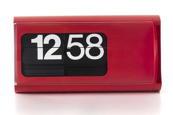 Orologio a palette Cifra 3 rosso da Solari Linea Design
