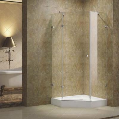 Parete doccia ad angolo con battente in vetro, modello Graces by Korra