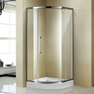 Box doccia angolare in vetro e telaio cromato, modello Pivot di Korra