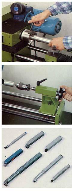 Tornitura cilindrica con il tornio per metalli
