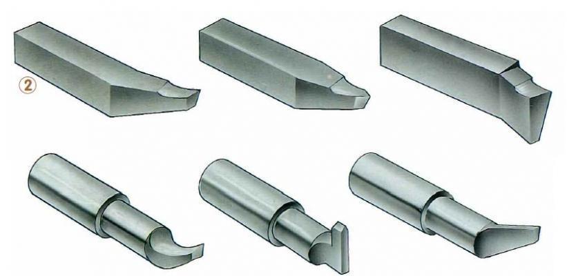 Particolari contropunte metalliche per la lavorazione a tornio
