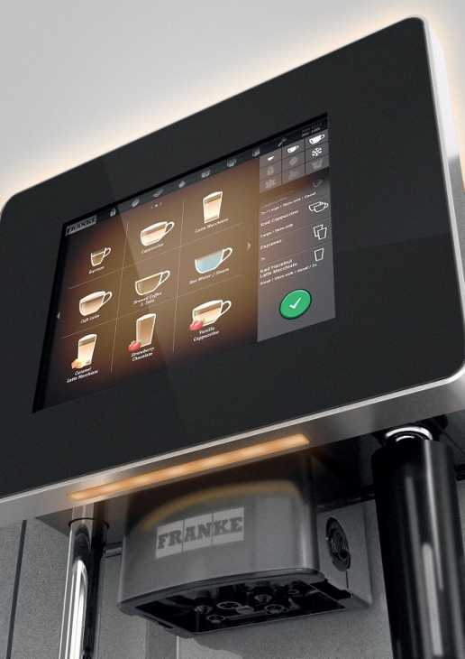 Macchine per caffè espresso in casa con display touch screen by Franke