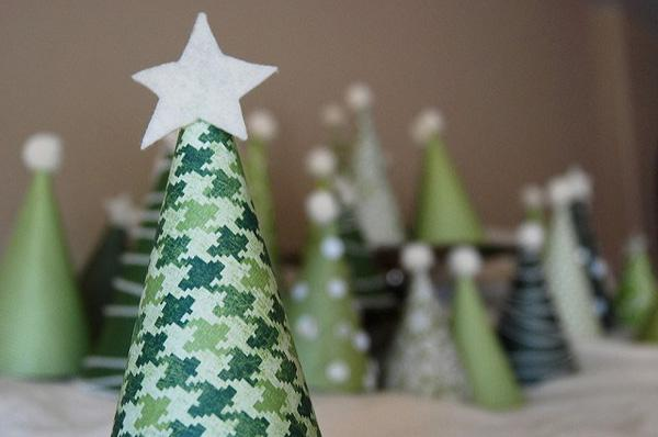 Mini albero rivestito in cartoncino di pinksuedeshoe.com