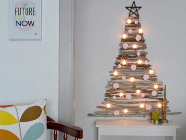 Alberi Di Natale In Legno Da Appendere : Albero di natale da parete fai da te u disegni di natale